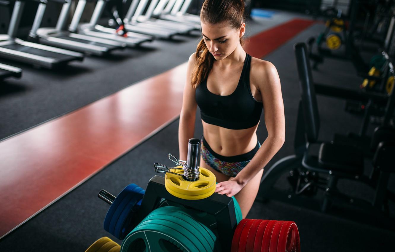 Photo wallpaper model, fitness, gym