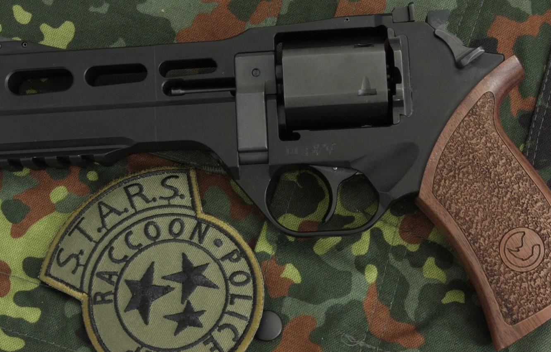 Photo wallpaper weapons, revolver, weapon, revolver, Residen Evil, Rhino, S.T.A.R.S., Chiappa