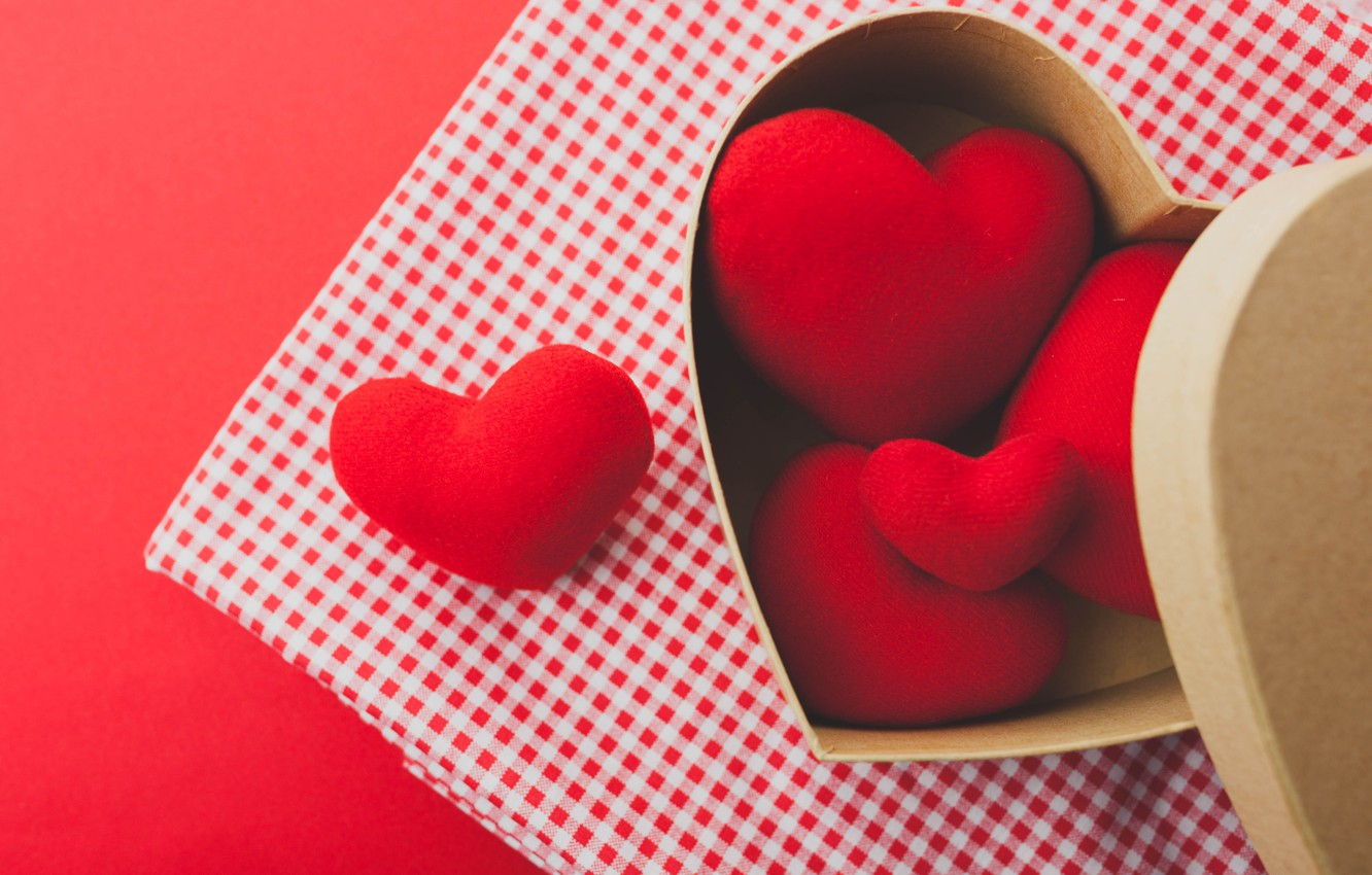 Photo wallpaper red, love, romantic, hearts, valentine's day, gift