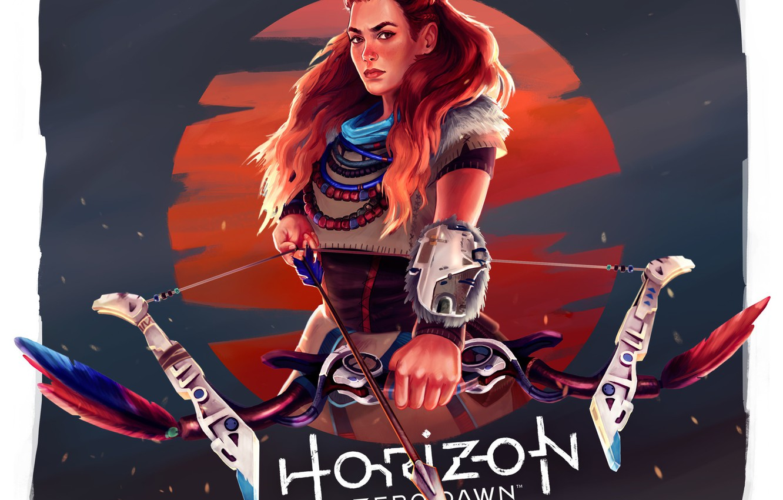 Photo wallpaper Sony, Art, PS4, Horizon: Zero Dawn, Aloy