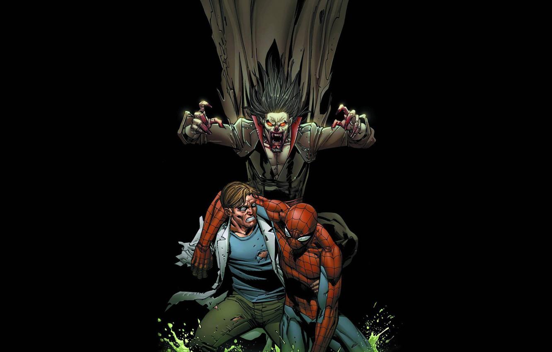 Photo wallpaper spider-man, Lizard, vampire, spider-man, Konors, Morbius, Morbius, Lizer