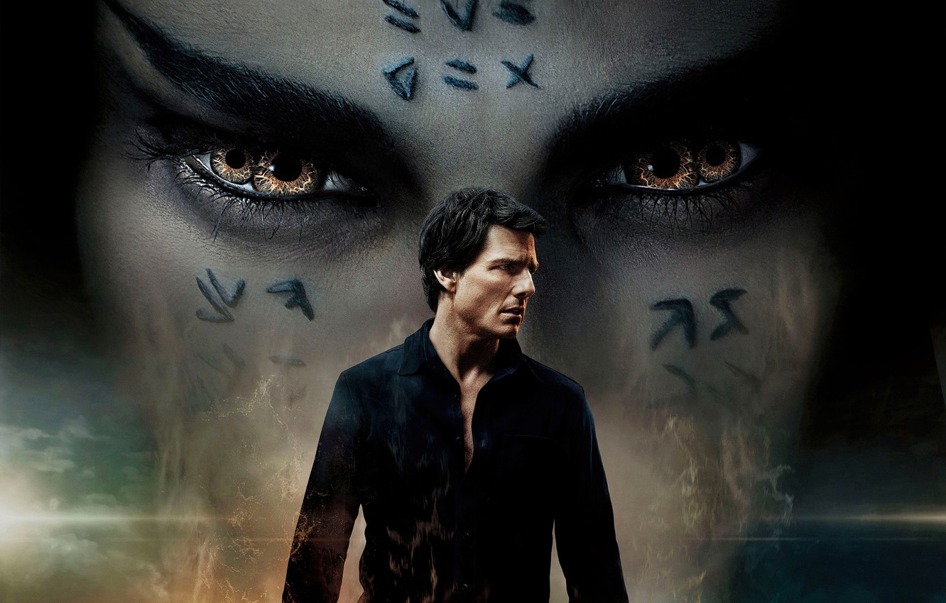 Photo wallpaper Action, Fantasy, the, Queen, Female, Eyes, year, Russell Crowe, Woman, Dead, Horror, Tom Cruise, EXCLUSIVE, …