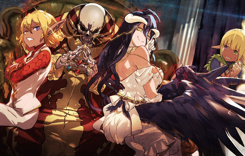 Photo wallpaper girl, anime, art, skeleton, Overlord, The Lord