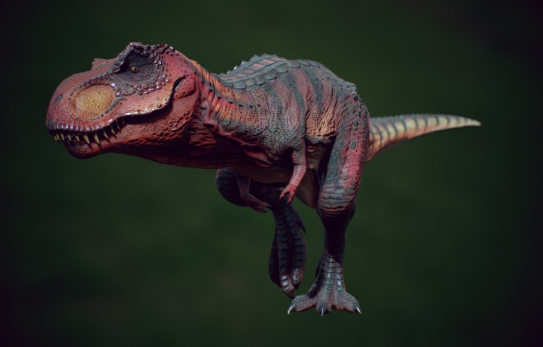 Photo wallpaper dinosaur, art, T-REX, Henrique Naspolini