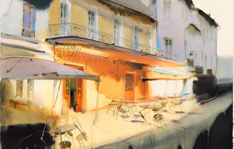 Photo wallpaper restaurant, balcony, Arusha Vozmus, Drunk Chairs