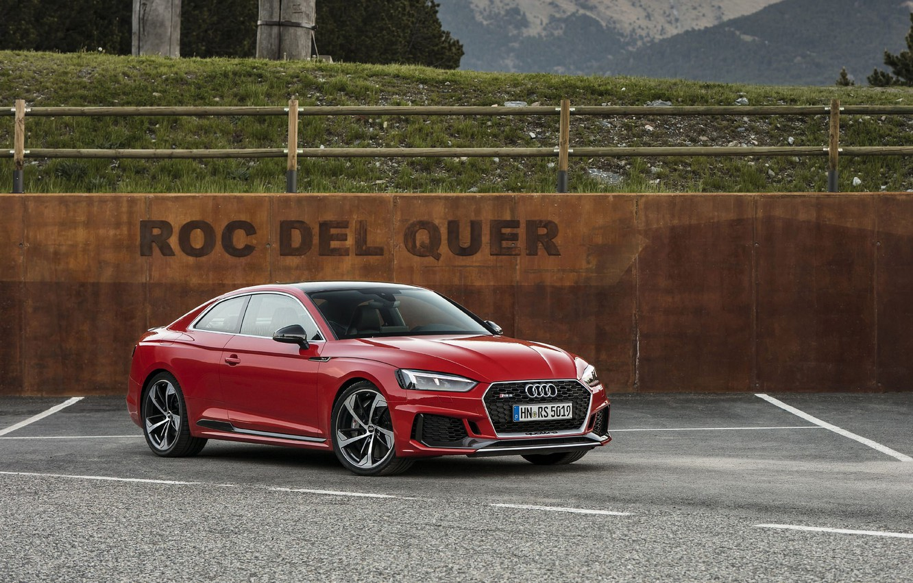 Photo wallpaper AUDI, RS5, RED, 2017