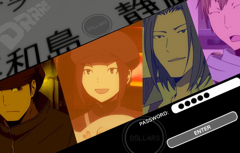 Photo wallpaper face, durarara!!, dollars, the headless horseman, Lost Kyohei, Togusa Saburou, Kamanda, Walker Yumasaki, Karisawa Erika