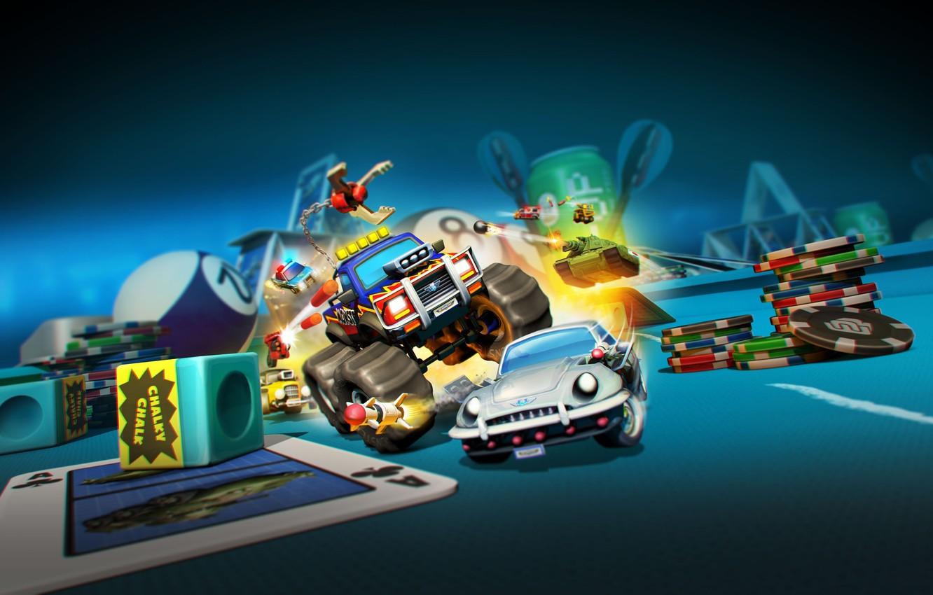 Wallpaper car, game, tank, casino, Micro Machines World Series ...