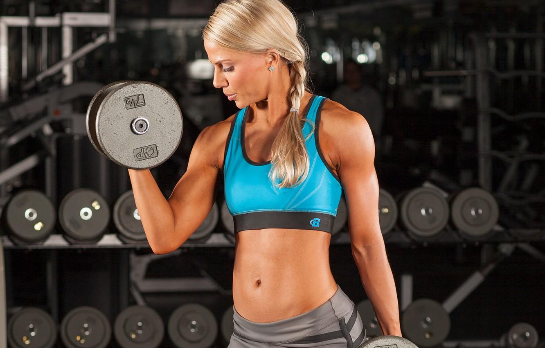 Photo wallpaper model, blonde, female, fitness