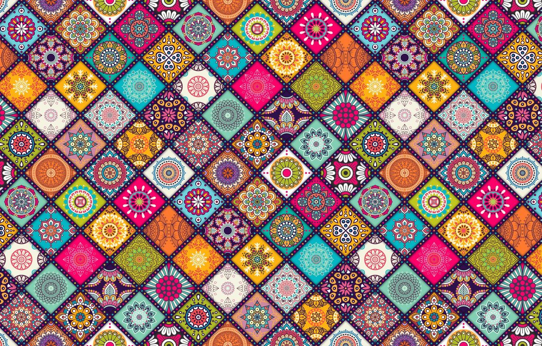Photo wallpaper design, pattern, ornament, floral, design by visnezh