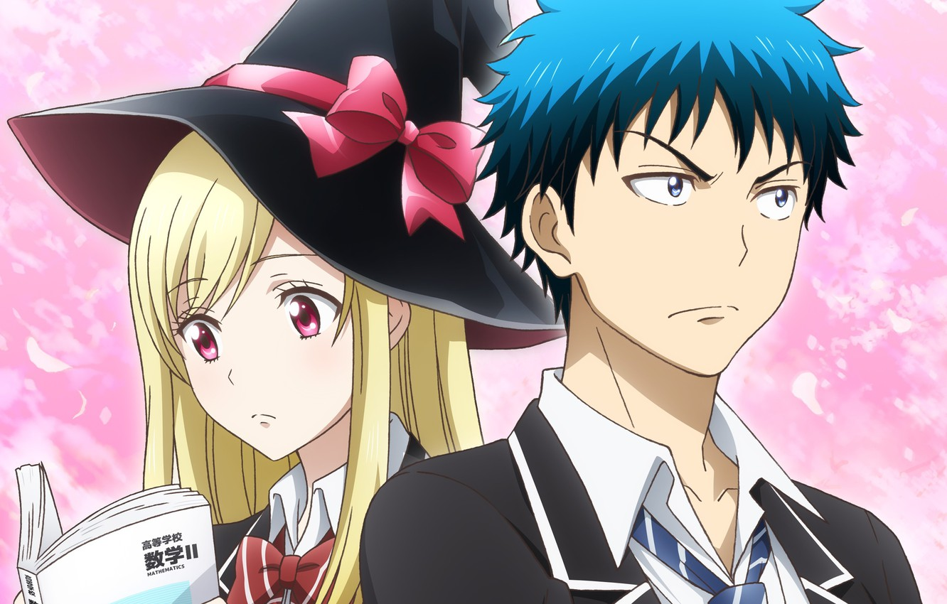 Wallpaper Girl Hat Anime Art Guy Two Yamada Kun To 7 Nin No