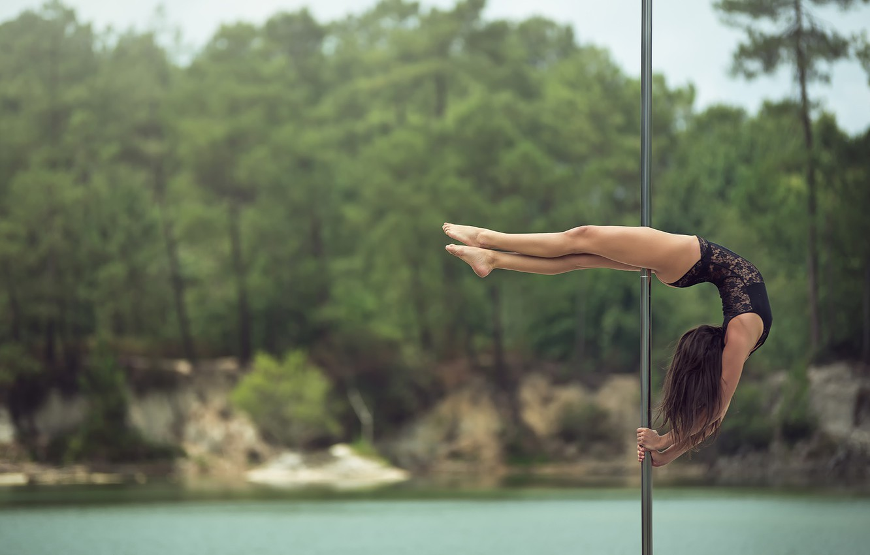 Photo wallpaper girl, dance, grace, pole, Eva, shestova acrobatics, pole dancing, Pole Sport