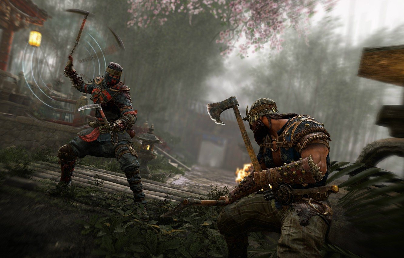 Wallpaper Axe Game Armor Weapon Samurai Viking For Honor Japonese Images For Desktop Section Igry Download