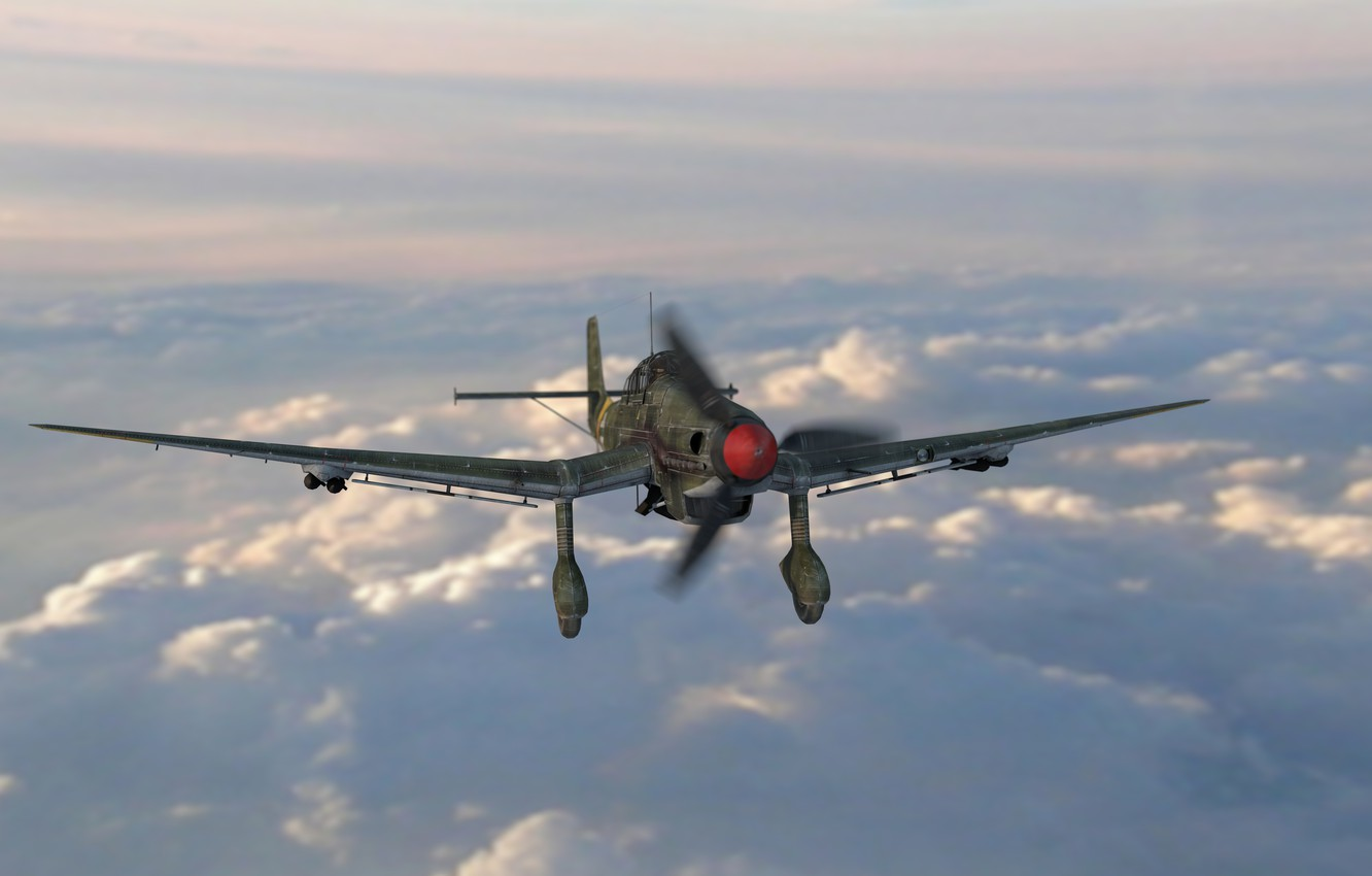 Photo wallpaper the plane, attack, render, military, render, plane, Junkers, Aircraft of the Second world war, ju …