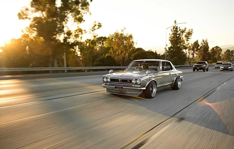 Photo wallpaper Auto, Machine, Nissan, Nissan, Lights, Car, 2000, Skyline, Nissan Skyline, 2000GT, Japanese, 2000GT-R, 2000 GT, …