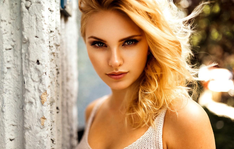 Photo wallpaper girl, look, blonde, Miro Hofmann, Carla Sonre