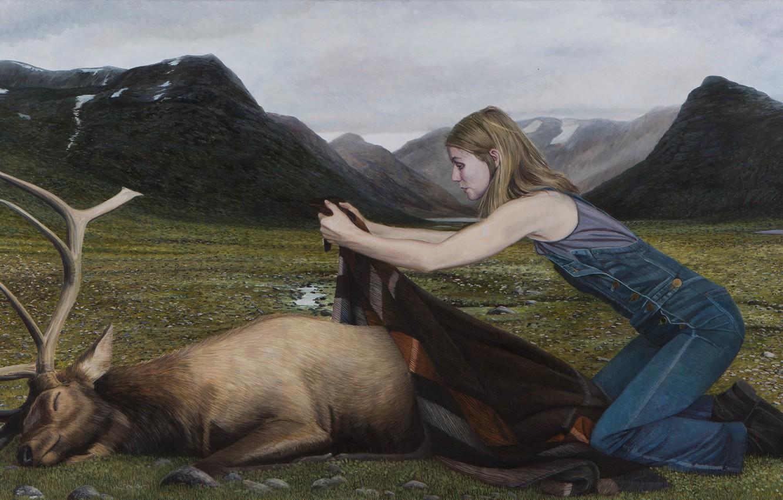Photo wallpaper picture, Highlands, Norwegian artist, Christer Karlstad