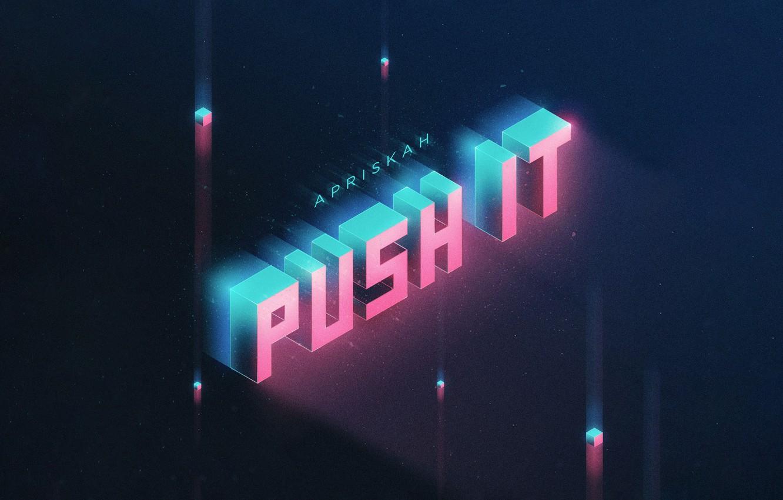 Photo wallpaper Music, Cover, Monstercat, Apriskah, Push It