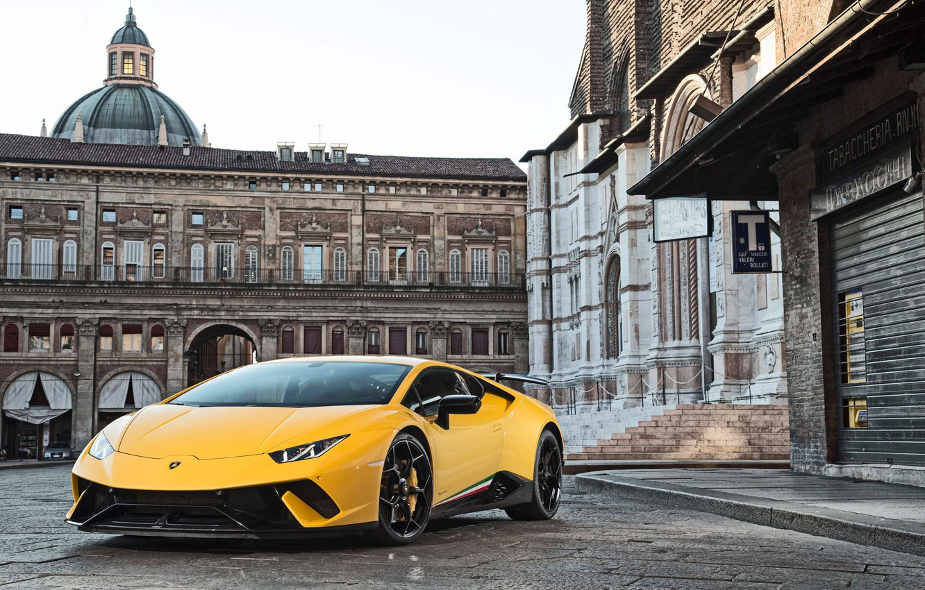 Lamborghini Huracan Performante Blue Wallpaper