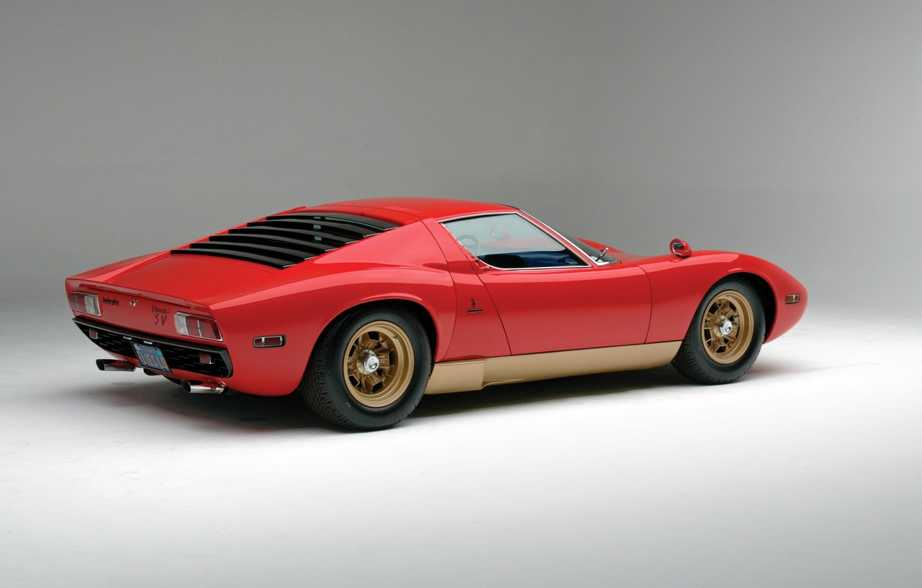 Wallpaper Red Auto Lamborghini Red Machine Background 1971