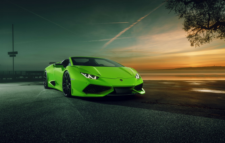 Photo wallpaper Lamborghini, supercar, convertible, Spyder, spider, Lamborghini, Novitec Torado, Huracan, hurakan