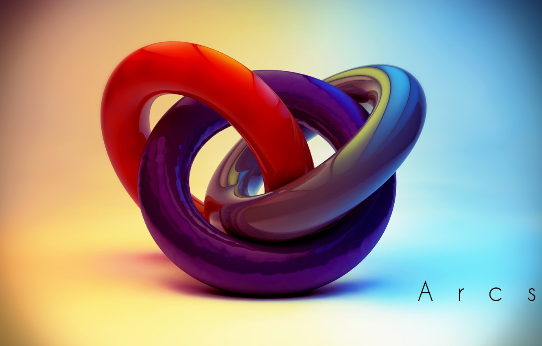 Photo wallpaper colors, colorful, abstract, rendering, digital art, geometry, Arcs