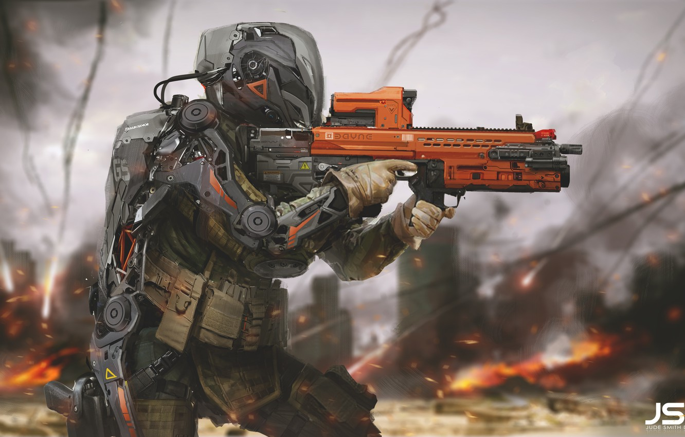 Photo wallpaper weapons, soldiers, Future Soldier, Jude Smith