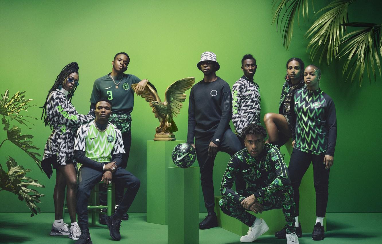 Photo wallpaper Palma, eagle, football, the ball, form, Nike, football, presentation, Nigeria, Nigeria, Julie Adenuga, Yagazie Emezi, …