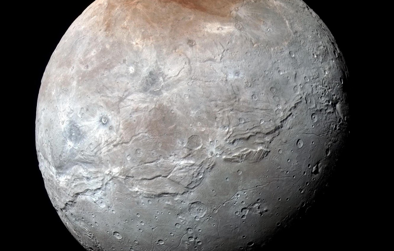 Photo wallpaper New Horizons, Charon, the satellite of Pluto