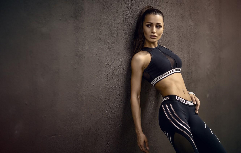 Photo wallpaper girl, pose, wall, sport, figure, Sergey Sorokin
