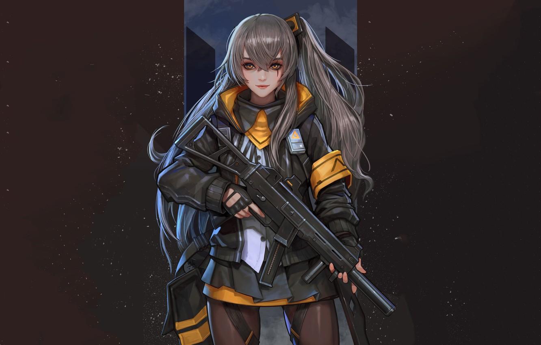 Photo wallpaper girl, weapons, anime, Girls Frontline