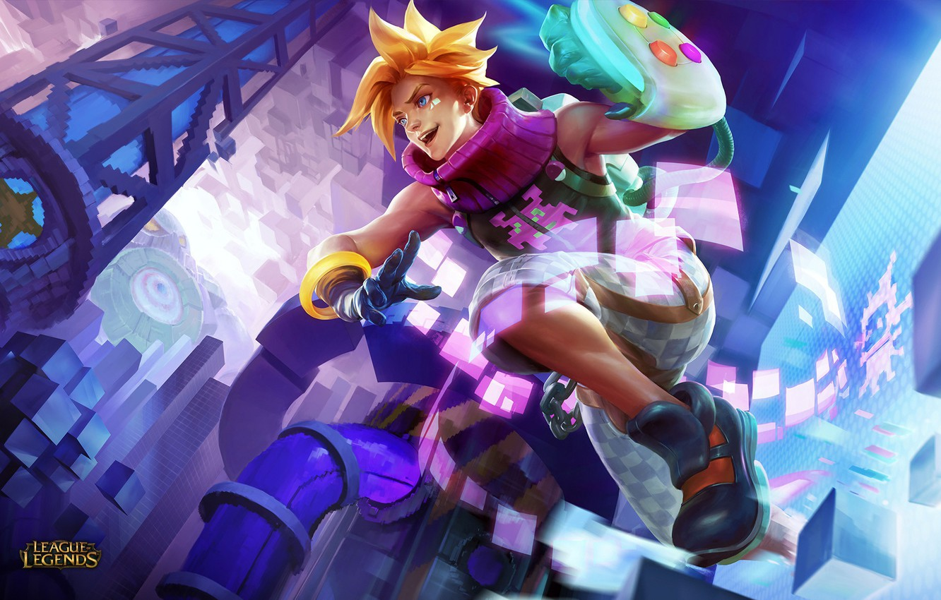 Photo wallpaper guy, art, lol, blonde, League of Legends, ezreal, Prodigal Explorer, arcade ezreal
