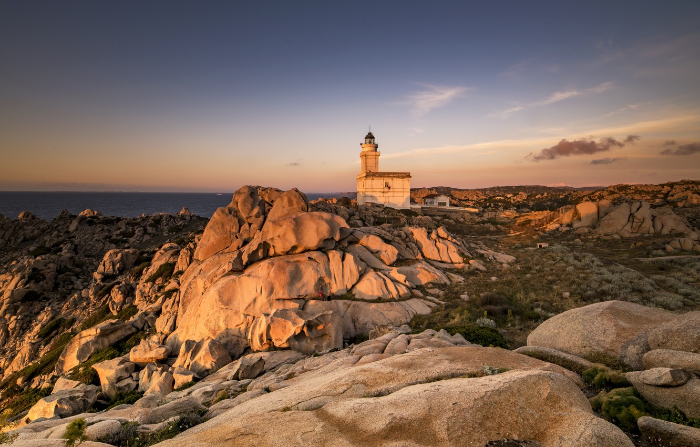 Photo wallpaper lighthouse, Italia, Sardinia, The lighthouse of Capo Testa