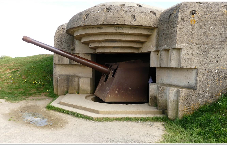 Photo wallpaper gun, france, normandy, artillery, overlord