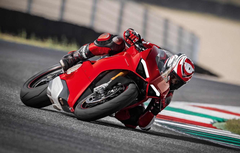 Photo wallpaper Red, Race, Ducati, Speed, Track, Superbike, Panigale, 2017, Sportbike