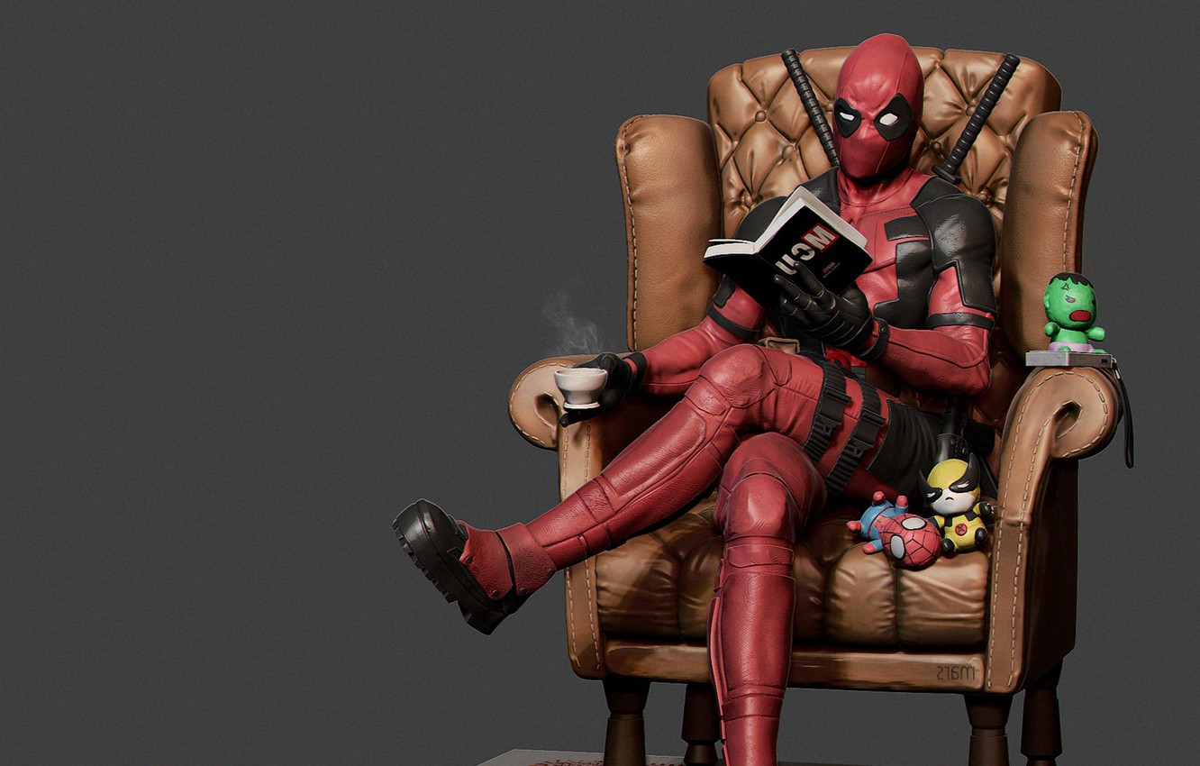 Photo wallpaper Wade Winston Wilson, break, mars ..., Deadpool Reading, Deadpool