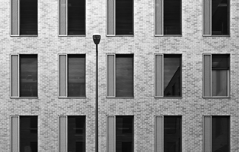 Photo wallpaper the city, the building, Windows, texture, flashlight, architecture