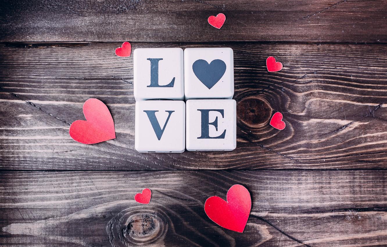 Photo wallpaper love, heart, hearts, love, heart, wood, romantic, Valentine's Day