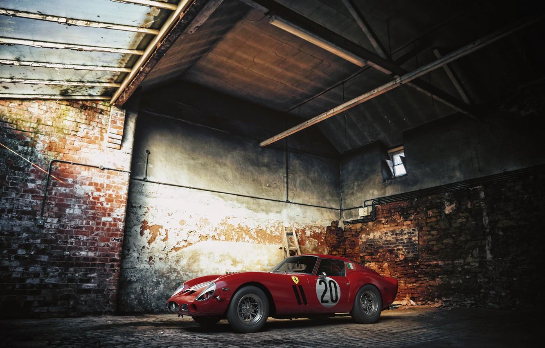 Photo wallpaper Red, ferrari, GTO, 250