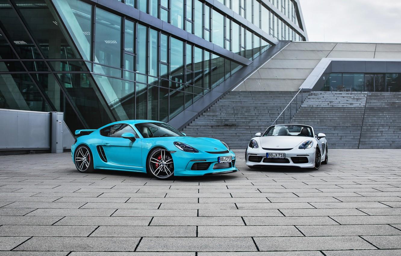 Photo wallpaper Porsche, Cayman, convertible, Porsche, turbo, TechArt, 718