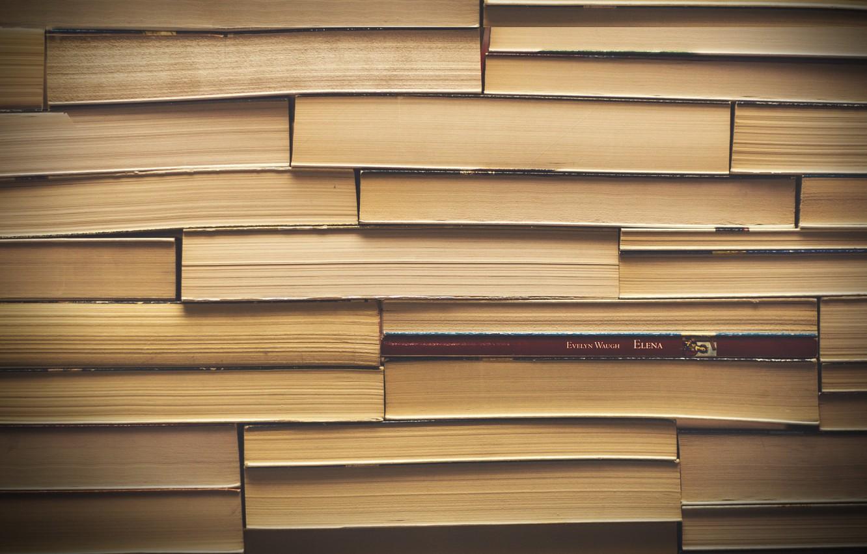 Photo wallpaper macro, background, books