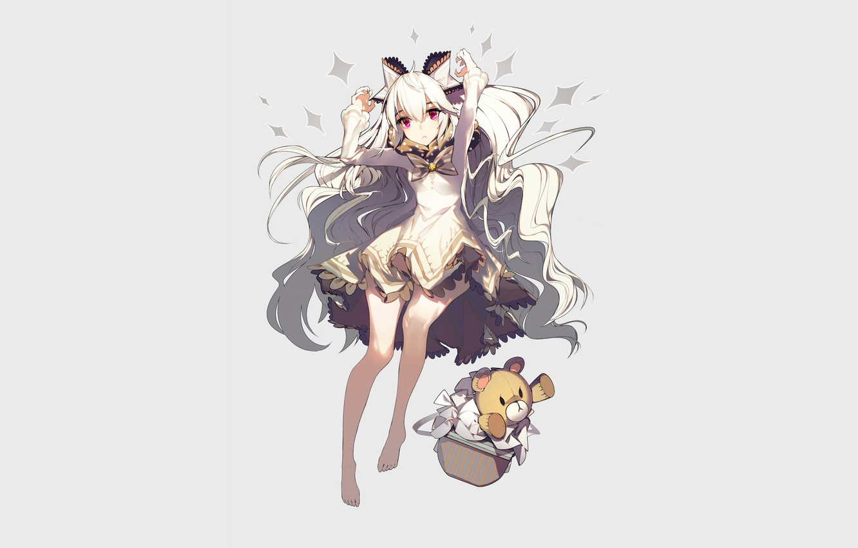 Photo wallpaper girl, background, anime