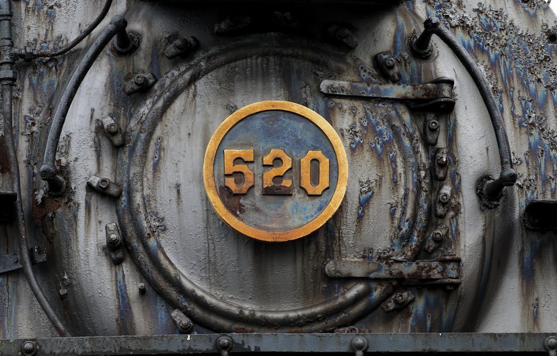 Photo wallpaper train, rusty, steam locomotive