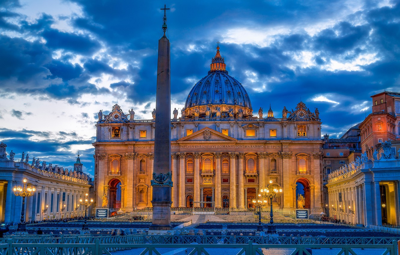 Photo wallpaper area, Rome, Italy, Cathedral, Italy, obelisk, Rome, The Vatican, St. Peter's Cathedral, Vatican, St. Peter's …