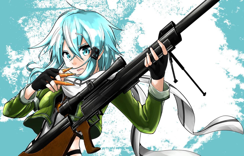 Photo wallpaper girl, weapons, anime, art, Sword art online, Sword Art Online