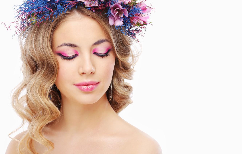 Wallpaper Woman Flowers Beauty Makeup Images For Desktop Section Devushki Download