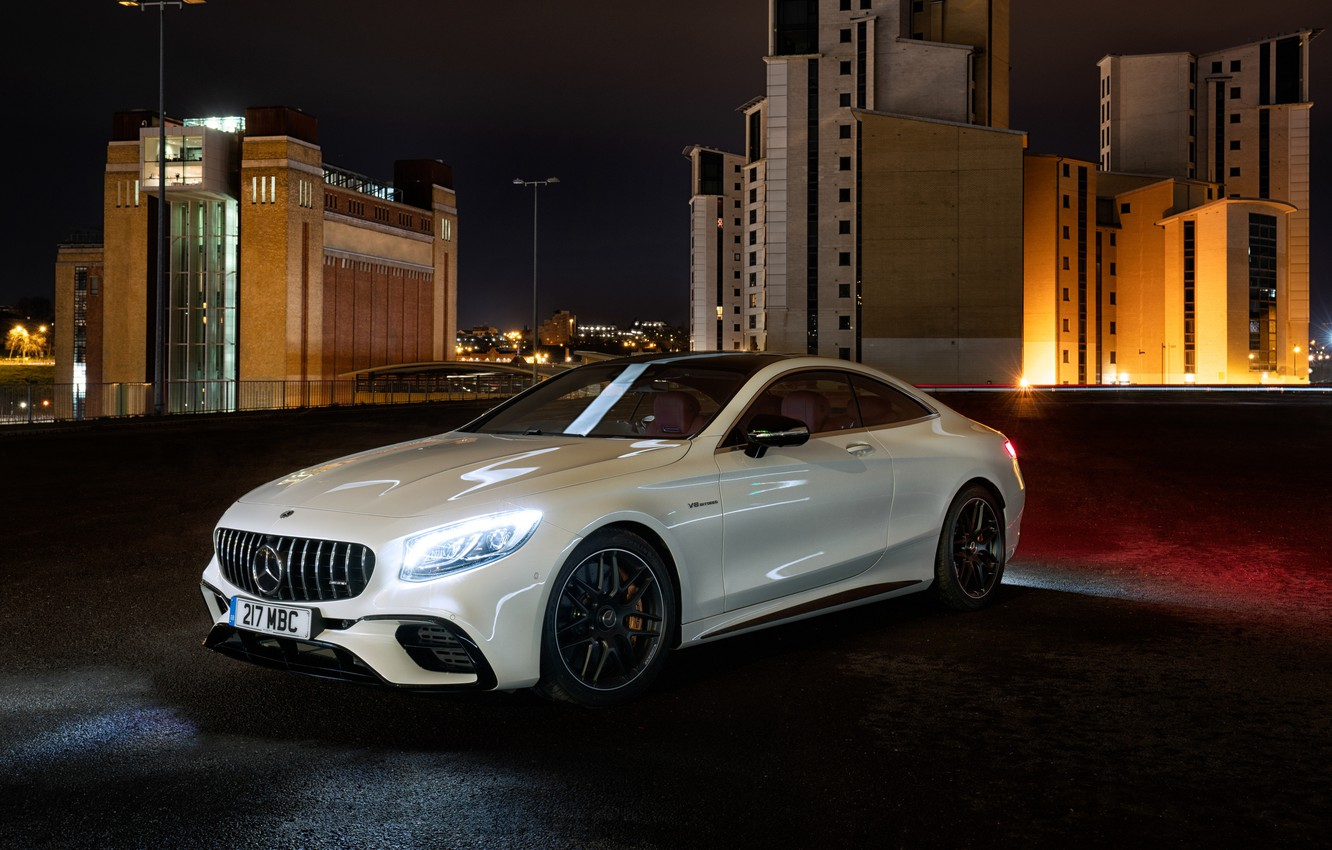 Photo wallpaper lights, Mercedes-Benz, AMG, Coupe, 2018, 4MATIC, S63