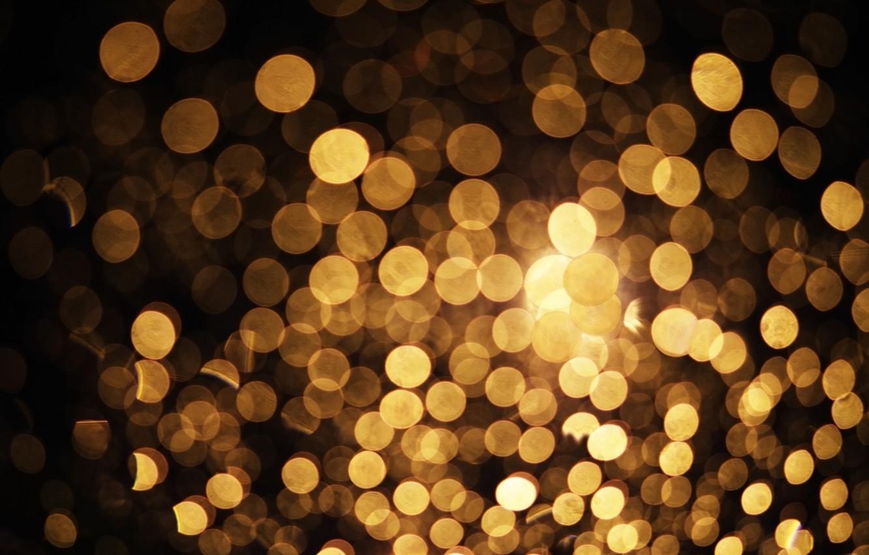 Photo wallpaper light, lights, lights, background, golden, gold, background, bokeh, bokeh