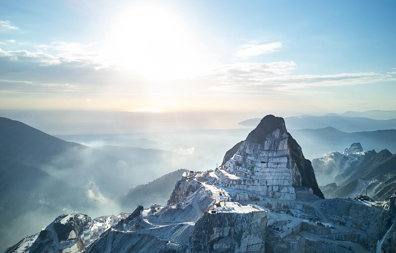 Wallpaper sky, cave, Carrara marble quarry images for