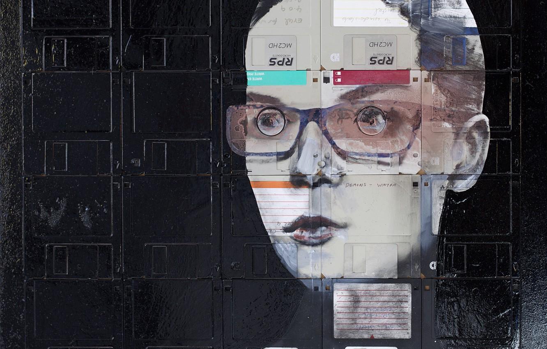 Photo wallpaper glasses, Nick Gentry, strict, DEMON'S WINTER